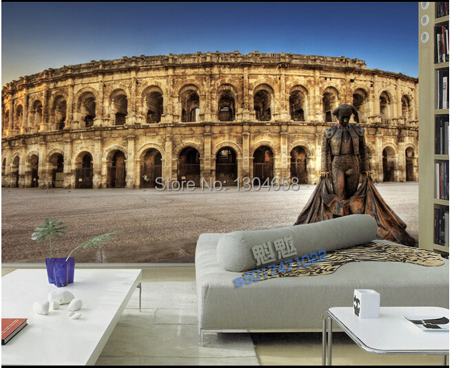 Custom photo wallpaper Papel de parede London ancient building scenery for the living room bedroom wall paper of vinyl wallpaper custom photo wallpaper london skyline murals for the sitting room the bedroom tv sofa wall waterproof vinyl papel de parede