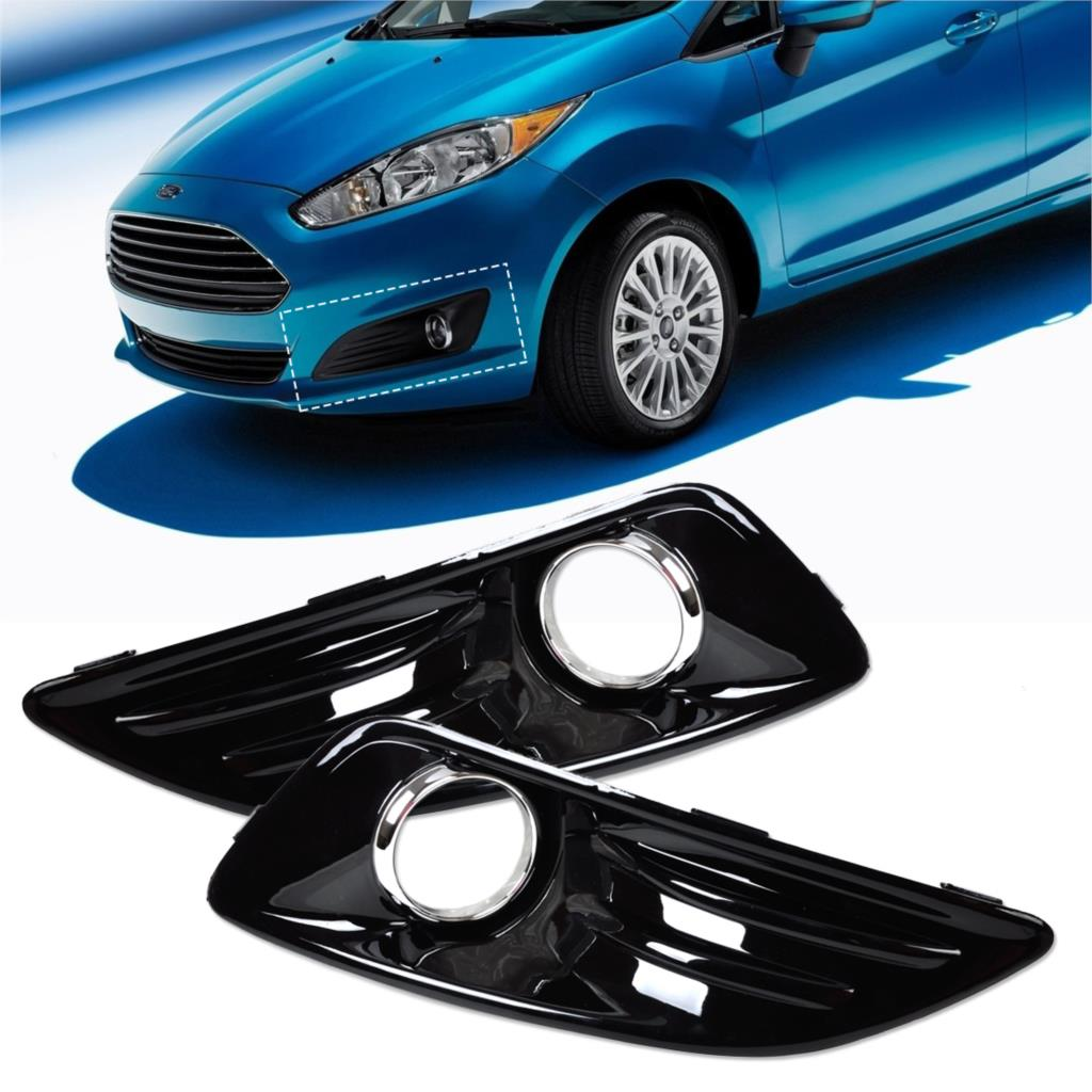 Citall new abs plastic with baking finish front left and right side fog light lamp cover
