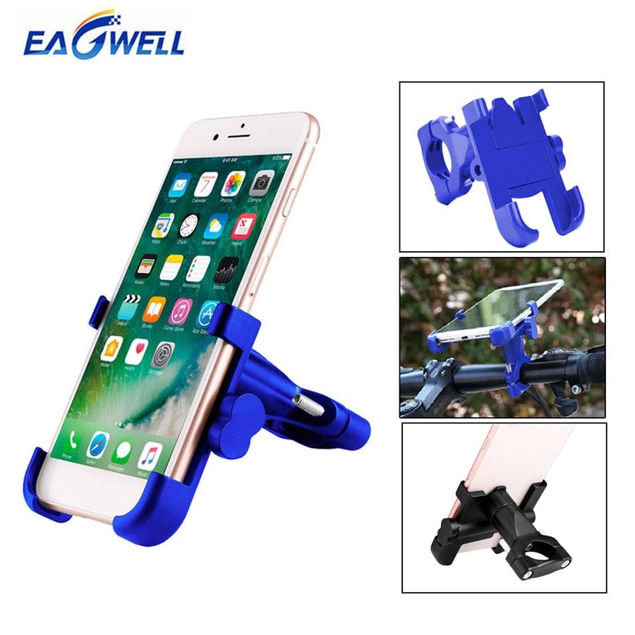 Universal Bicycle Motorcycle Phone Holder Stand 360 Rotating Bike Handlebar Clip Bracket Holder for iPhone Samsung Xiaomi Phones