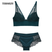 TERMEZY 2019 New Women Fashion Sexy Lace lingerie Wireless Bras For Push Up bra set Jacquard Underwear