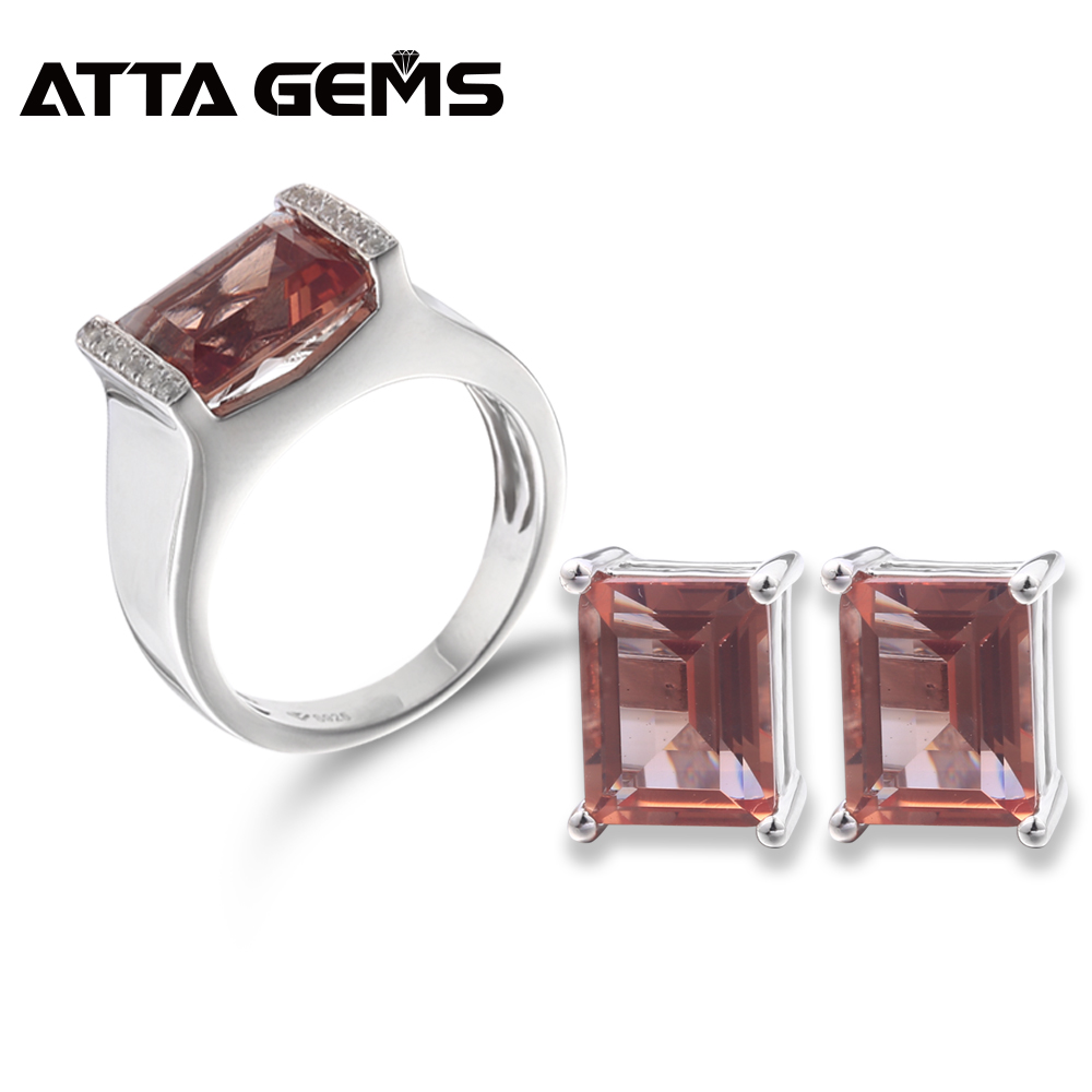 Zultanite Sterling Silver Rings 10 5 Carats Created Diaspore Sterling Silver Sets Zultanite Earrings for Women