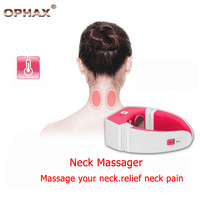 OPHAX Intelligent Cervical Neck Massager Electric Pulse Far Infrared Heat Magnetic Therapy Neck Massage Device Health