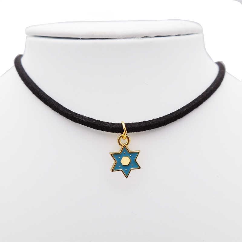 Thời trang Vòng Cổ Choker ngôi sao men Vòng cổ nữ trang sức choker Vàng Vòng cổ ngôi sao trên cổ dây chuyền Lễ Tình Nhân tặng sinh nhật quà Tặng