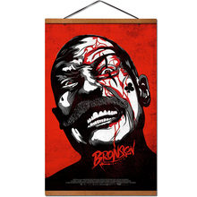 Bronson Movie Hanging Poster Scroll Canvas Painting With Teak Wood Wall Art Pictures(China)