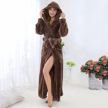 New Spring Flannel Nightgown Thermal Comfortable Homewear Sleepdress Pajamas For Women Shower Long Sleeve Winter