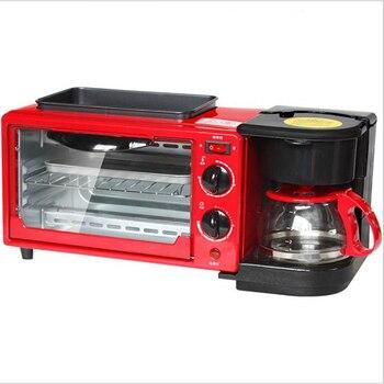 3-в-1 машины завтрак 450 w Кофе горшок +600 w теппаньяки + 600 w духовка для выпечки хлеба Maker хлеб тостер/Fried Egg/кофеварка
