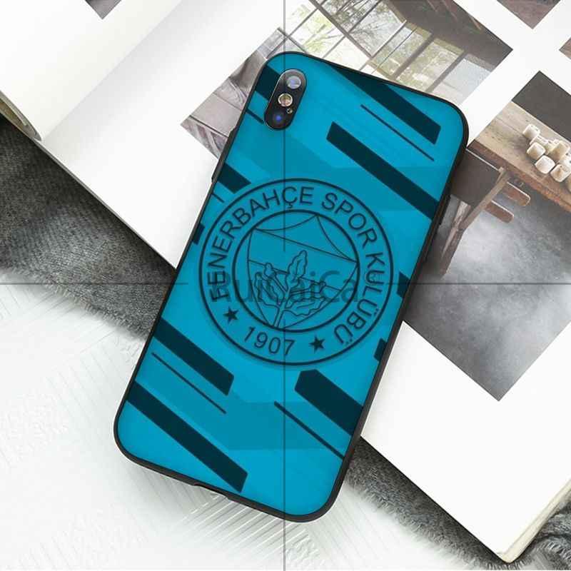 Ruicaica Fenerbahce de silicona suave negro teléfono caso para iPhone X XS X MAX 6 6 S 7 7 plus 8 8 plus 5 5S XR