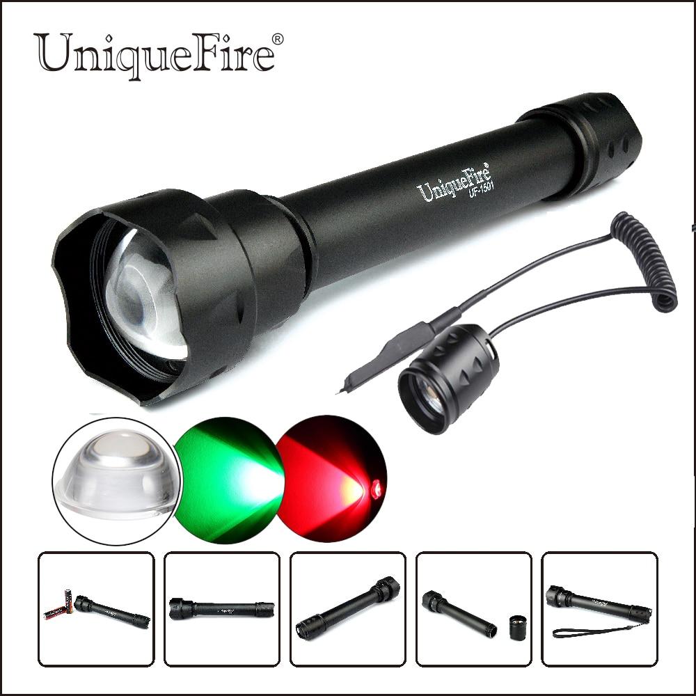 UniqueFire lampe de poche LED portable UF-1501 XRE torche LED 3 Modes lampe de tir extérieur torche + pression à distance pour la chasse