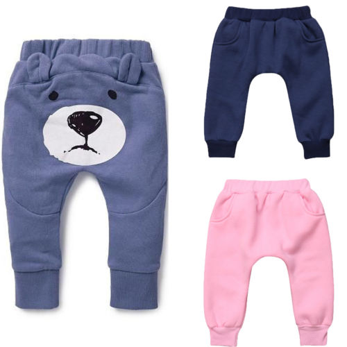 Baby Hiphop Harem Pants Toddler Sport Jogger Trousers Bear Cotton Leggings 12-18 Months