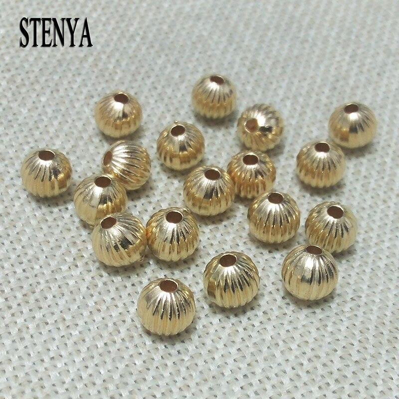 Perlen Striped Runde Charme Harz Ball Spacer Perlen 6mm 8mm 10 20mm Für Diy Schmuck Machen