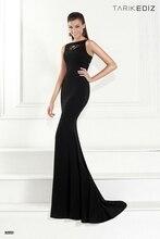 New arrival women evening dress 2015 Tarik Ediz 92553 custom made black mermaid formal gowns