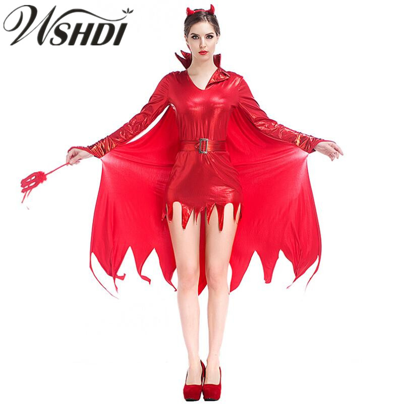 m xl new hot female red pu leather witch devil costume. Black Bedroom Furniture Sets. Home Design Ideas