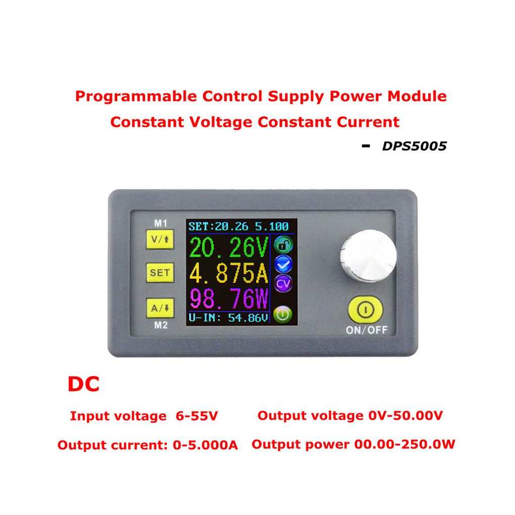 DPS5005 50V 5A Constant Voltage Current Step-down Power Supply Module Buck Voltage Converter Voltmeter constant digital voltage current meter step down dp50v2a voltage regulator supply module buck color lcd display converter