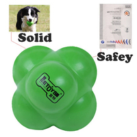 Solid Rubber Ball Cute Puppy Dogs Toys Training Pet Toy Chewing Molar Giochi Cane Kong Dog Clean Oyuncak Pet Supplies 50A0381