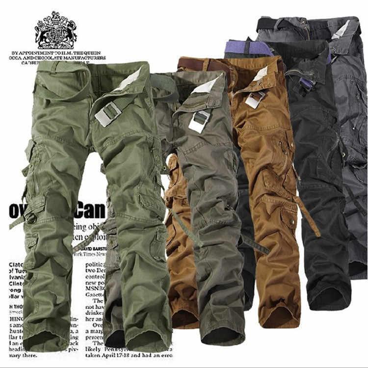 Мужские камуфляжные брюки, мужские военные брюки с несколькими карманами, тактические повседневные военные камуфляжные брюки карго, мужские плюс комбинезоны для мужчин