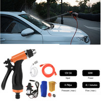 12V 60W High Pressure Cleaning Pump Car Washing Machine Cigarette Lighter Vehicular Wash Device Auto Wash Tool Accessories