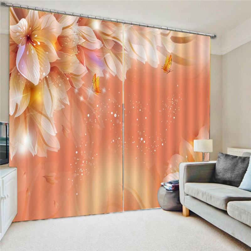 3D Curtain Printing Blockout Polyester Photo Drapes Fabric For Room Bedroom Window Watercolor Decor Treatment Drapes Oct25