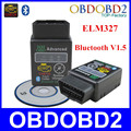 Black Mini ELM327 With Bluetooth Support Android/Symbian/Windows ELM 327 Hardware V1.5 OBD2 Diagnostic Tool