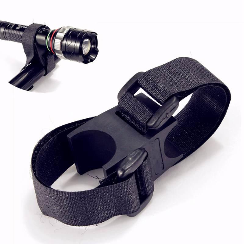 где купить 20.5cm Black Bike Bicycle LED Flashlight Torch Handle Holder Mount Clip With Adhesive Strap дешево