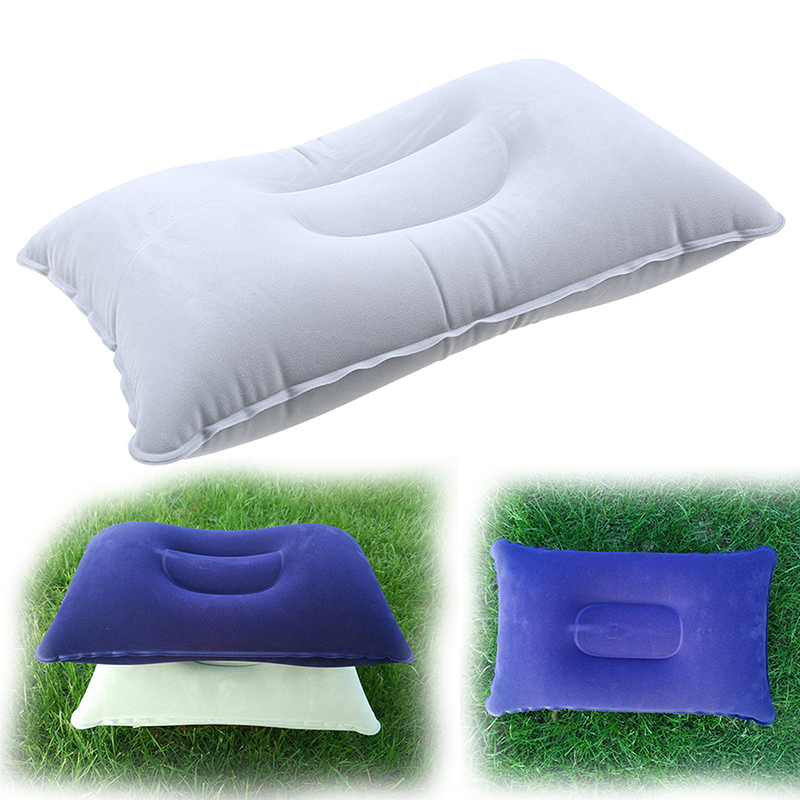 Outdoor Portable Inflatable Pillow Camping Travel Car Home Rest Air Cushion