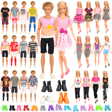 Fashion Handmade 34 Item=10 Ken Clothes 4 Ken Shoes Doll Accessories 10 Shoes 10 Clothes For Barbie Kids Toys for Girl DIY Gift