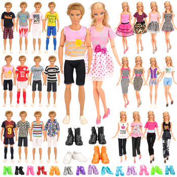 Fashion Handmade Random Pick 34 Items/set=10 Ken clothes 4 Ken Shoes 10 Shoe 10  clothes For Barbie Doll Accessories Dress - DISCOUNT ITEM  19% OFF All Category