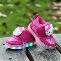 Nuevos niños shoes con luz de 2017 bebés del otoño del resorte de luz led shoes chaussure enfant niños luminosos zapatillas de deporte girls shoes