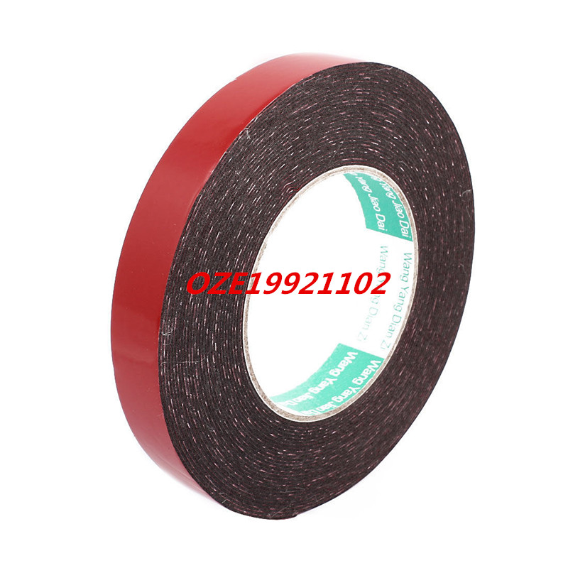 20mm x 1mm Double Sided Self Adhesive Shockproof Sponge Foam Tape 10M Long 10m super strong waterproof self adhesive double sided foam tape for car trim scotch