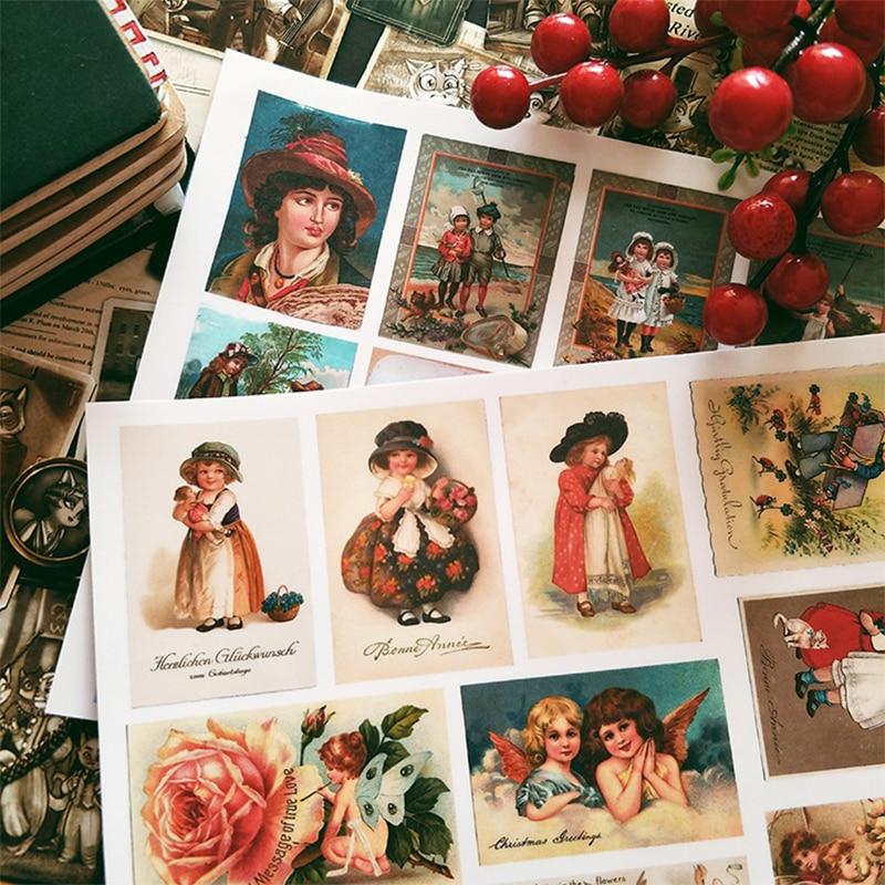 22PCS Vintage Aufkleber DIY Scrapbooking Vintage Engel Mädchen Serie Album Journal Projekt Machen Glücklich Planer Dekoration Aufkleber