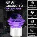 LIGINWAAT новая 3D Светодиодная лампа от комаров Zapper Mosquito Bug Zapper Fly Swatter креативная лампа от комаров Ловушка от комаров ракетка