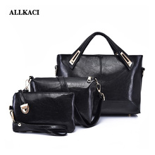 Women Bag Top-Handle Bags Female Famous Brand Girls Messenger Bags Handbag 3 Set PU Leather Composite Bag sac a main femme 48 famous brand women bag top handle bags fashion women messenger bags handbag set genuine leather totes bag bolso mujer