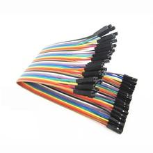 400 pièces dupont câble cavalier fil dupont ligne femelle à femelle dupont ligne 20 cm 1 P 1 P