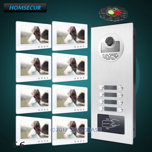 HOMSECUR 10.1 Multi Apartment Video&Audio Door Entry Kit With Night Vision Camera+Dual-way IntercomHOMSECUR 10.1 Multi Apartment Video&Audio Door Entry Kit With Night Vision Camera+Dual-way Intercom