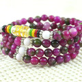 108 Rose purple watermelon crystal bracelets mantra prayer beads 6mm hand beaded gem bracelet accessories women wristband 0356