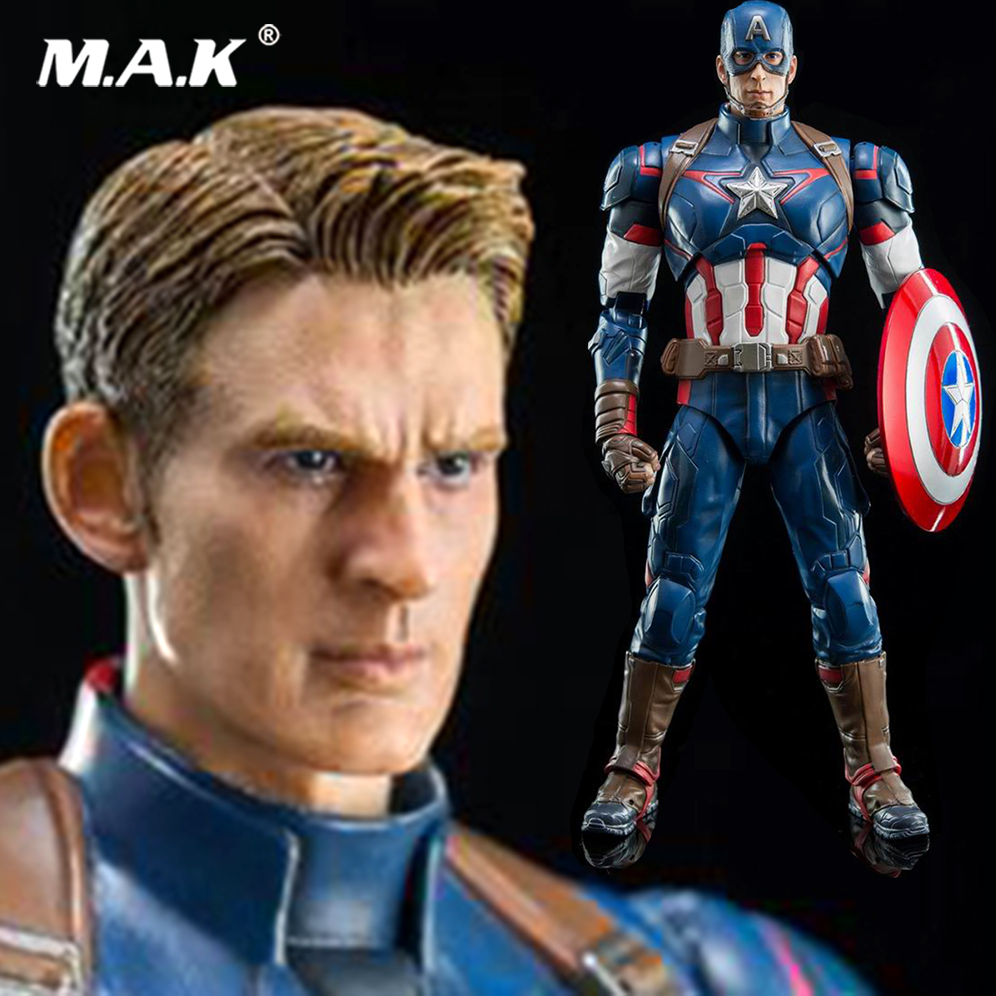 DFS026 King Arts Collectible 1/6 Scale Avengers: Age of Ultron Captain America Steven Rogers Full Set Christmas toy gift