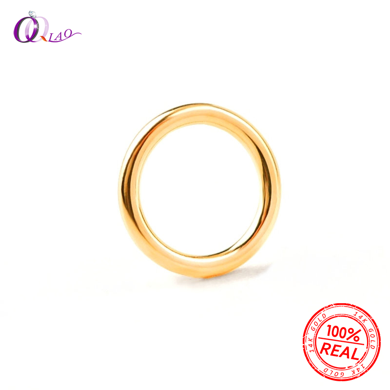 10pcs 2/3/4/5/6mm 14K Gold Filled Closed Jump Rings 14K Gold Filled Split Rings For Keychains Making & Bracelet Jewelry Findings