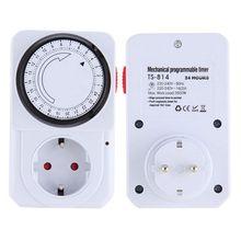 Mechanical Electrical Plug Таймер Выключатель Питания Energy Saver 24 Час