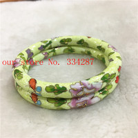 Wholesale 1PCS Chinese Handmade Cloisonne Enamel Cuff Hollow Bracelet Bangle 001