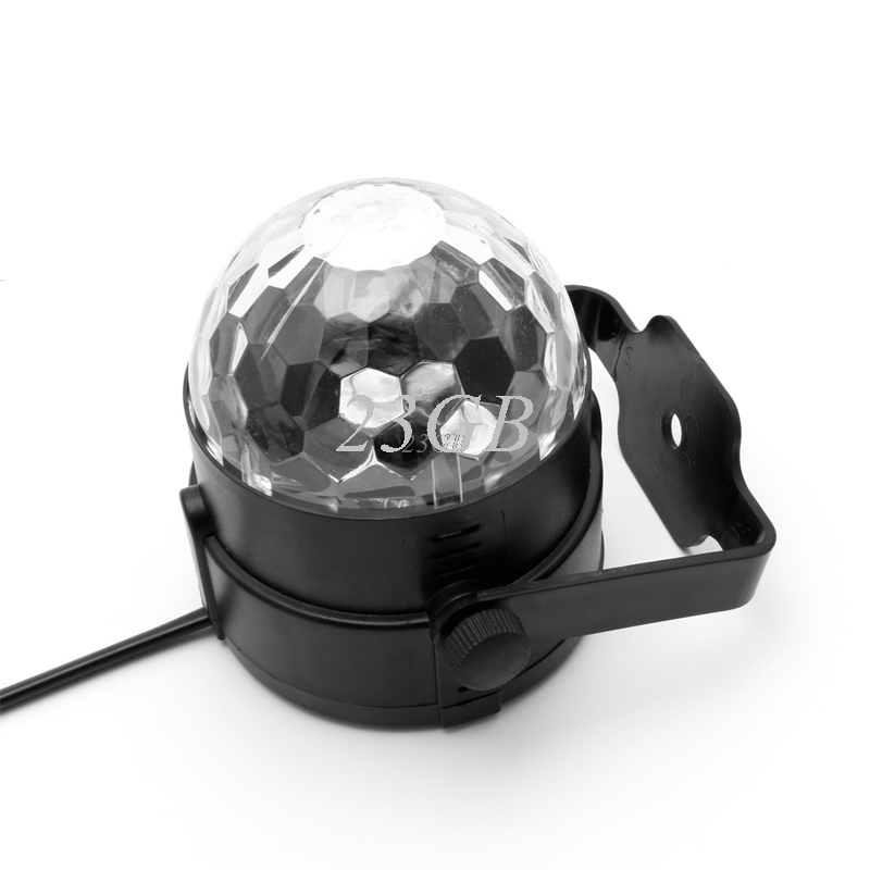 2017 NEW LED DJ Disco Party Magic Crystal Ball Stage Effect Light Voice Control RGB 3W MAY05_25 4pcs new for ball uff bes m18mg noc80b s04g
