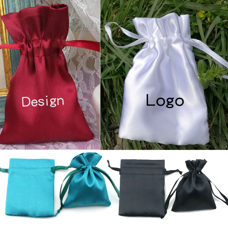 Silk Stain Jewelry Gift Packaging Pouch 8x10cm(3