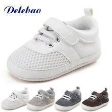 Delebao мягкая детская обувь из воздушной сетки очень низкая