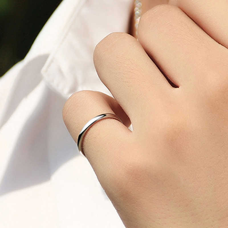 1PC טבעת יום נישואים יוניסקס 4 צבעים סגסוגת פשוט טיטניום פלדה מוצק צבע נשים גברים זוגות טבעות Jwelry מתנה