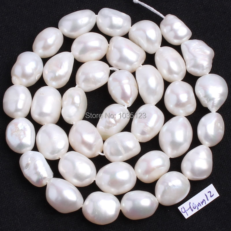 Free Shipping Natural 6 Color 9-10mm multicolor Freshwater Pearl Irregular Shape Loose Beads Strand 15