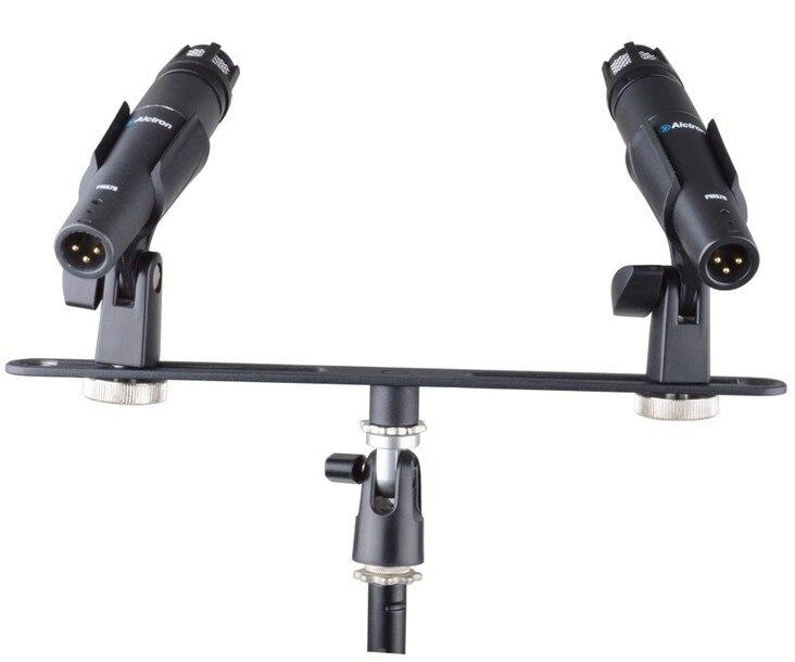 Двойная подставка для микрофона Alctron MAS020, стереозапись, двойная подставка для микрофона