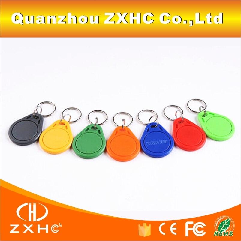 (1000PCS/LOT) 13.56mhz RFID Number3 Keys Keyfob IC(M1 S50) Access Control Smart Cards Fudan08 Chip
