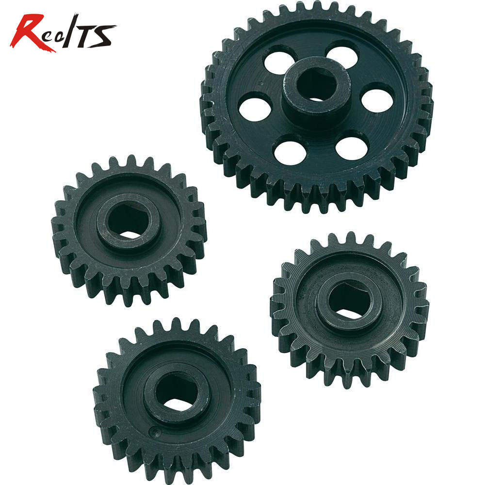 RealTS 118010 24/24/25/39T metal gear set for MT for FS Racing/ CEN/ REELY 1/5 scale rc car madmax widened waterproof wheel tire set extedned adapter for cen racing cen reeper monster truck 1 7 scale rc car parts