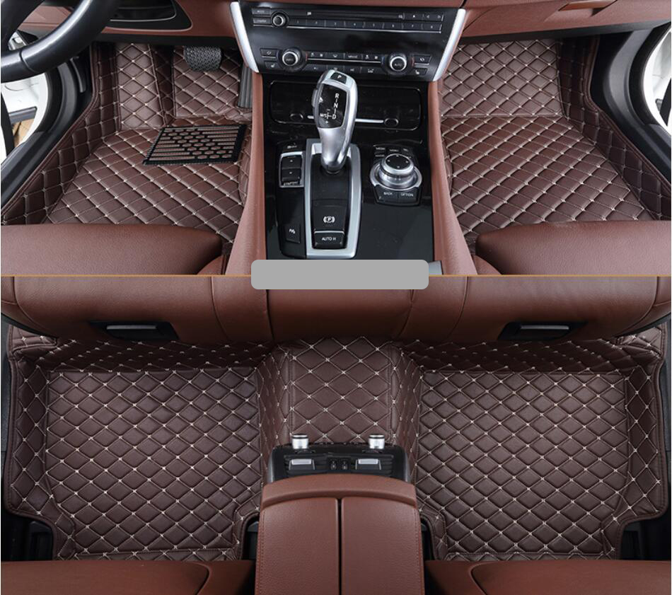 Floor mats xc90 - Car Floor Mats For Volvo Xc90 2015 2016 2017 High Quality Foot Carpets Step Mats Embroidery Leather