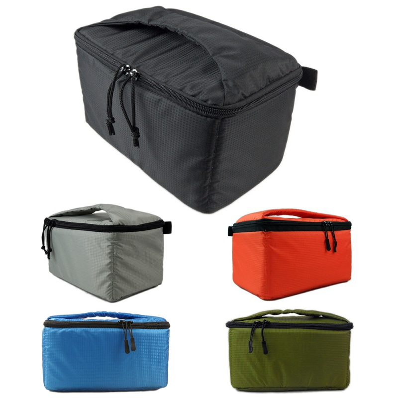 Portable Polyester Black DSLR Partition Padded Camera Bag Waterproof Built in Insert Camera Bags K5