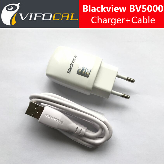Blackview BV5000 Charger + Micro USB Cable 5V 2A EU standard Charging Adapter 100% Original For Blackview BV5000 Mobile Phone