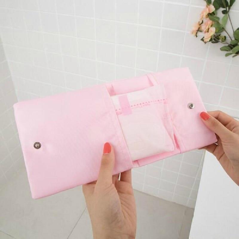 Sanitary Pad Pouch Mini Folding Women Cute Bag For Gaskets Napkin Towel Storage Bags Pouch Case Sanitary Pad Organizer Drop Ship